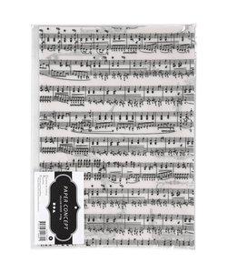 Perkamentpapier met Muzieknoten A4 21x30 cm 115 gr