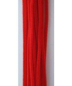 Chenille draad 6mm x 30 cm 20 stuks rood