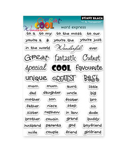 Penny Black Clear stamp Words Express