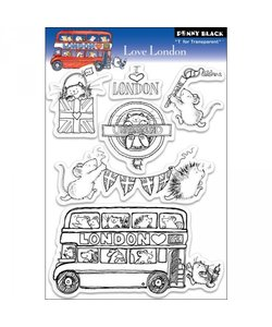 Penny Black Clear stamp Love London