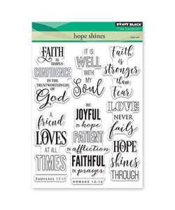 Penny Black Clear stamp Hope shines