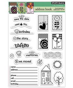 Penny Black Clear stamp Address Book