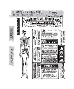 Tim Holtz Cling Stamp Poisonous