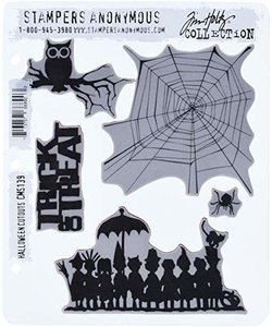 Tim Holtz Cling Stamp Halloween Cutouts