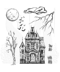 Tim Holtz Cling Stamp Sketch Manor