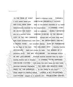 Tim Holtz Cling Stamp Tiny text Halloween