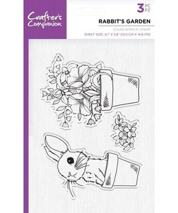 Crafter´s Companion Stempel A6 Rabbit's garden 10,4x14,7cm