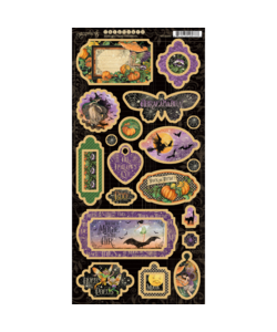 Graphic 45 Midnight Tales Chipboards