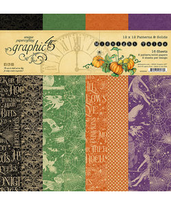 Graphic 45 Midnight Tales Collection Patterns & Solids Paper Pad 12x12 inch