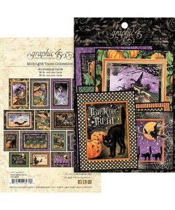 Graphic 45 Midnight Tales Collection Journaling Cards