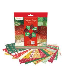 Origami Paper Christmas 61 vel 20x20cm 70gram