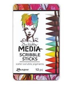 Ranger Dina Wakley Media Scribble Sticks #1  12 stuks