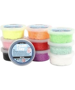 Foam Clay Glitter Diverse Kleuren Set 35g 10st