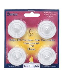 LED Waxinelichten, Darice, 4 st