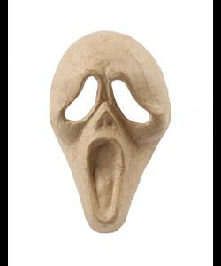 """Papier mache Halloween masker """"scream"""" 25x15 cm."""