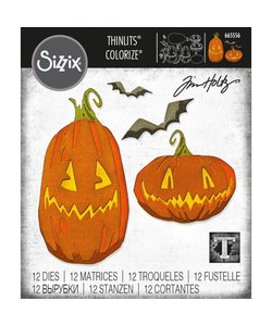 Sizzix Thinlits Die Set Pumpkin Patch Colorize 12 Dies