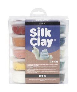 Silk Clay Set Pastelkleuren 10x40 gram
