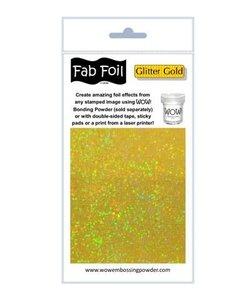 Fabulous Foil 10cm.x100cm. Glitter Gold