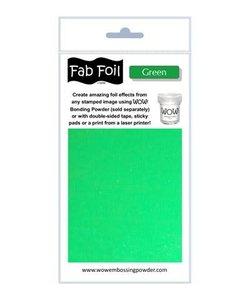 Fabulous Foil 10cm.x100cm. Green