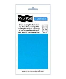 Fabulous Foil 10cm.x100cm. Turquoise
