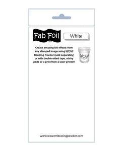 Fabulous Foil 10cm.x100cm. Snowy White