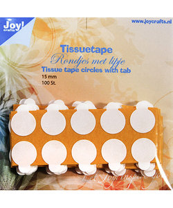 Joy Crafts Tissue Tape rond 15mm. met treklipje 100st