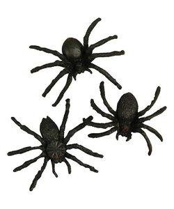Spinnen Zwart Afmeting 4 cm 10 st.