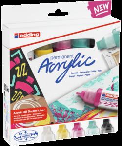 Edding Acrylic marker Double-liner set/5 Modern basic