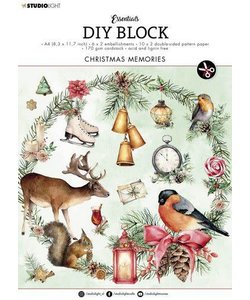 Studio Light  Essentials DIY block A4 Christmas Memories Nr.13
