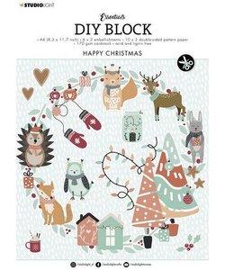 Studio Light  Essentials DIY block A4 Happy Christmas Nr.12