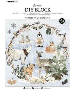Studio Light  Essentials DIY block A4 Winter Wonderland Nr.11