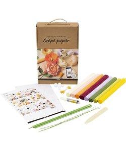 Ontdekken Kit Crepe Papier diverse kleuren