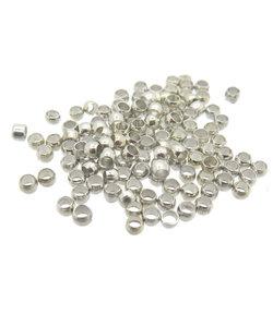 Knijpkraal rond zilver 1mm 100 stuks