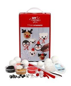 DIY Kit Christmas Foam Clay Set 7 stuks