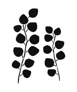 Stencil Sjabloon Eucalyptus  klein A4
