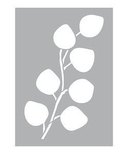 Stencil Sjabloon Eucalyptus  groot A4