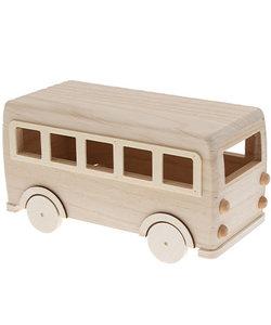 DIY kit houten bus H12x22,5x10cm