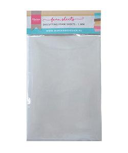Die cutting foam sheet A5 - 1 mm 5st. dubbelzijdig zelfklevend