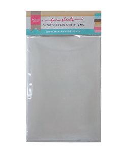 Die cutting foam sheet A5 - 2 mm 5st. dubbelzijdig zelfklevend