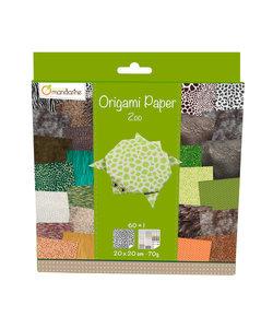 Origami Paper Zoo 61 vel 20x20cm 70gram