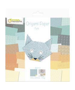 Origami Paper Furs 61 vel 20x20cm 70gram