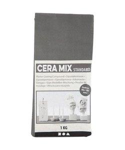 Cera-Mix Standaard gipsgietmix,  1kg lichtgrijs
