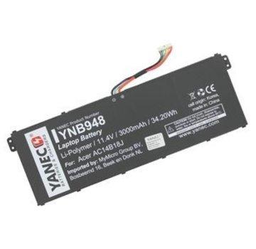 Yanec Laptop Accu 3000mAh