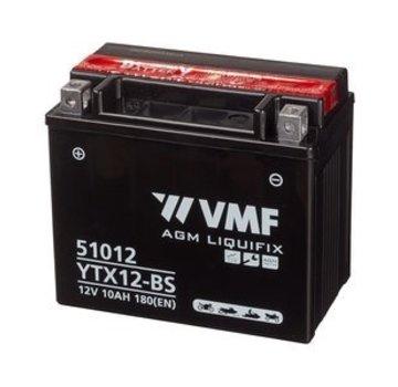 VMF VMF Powersport Accu MF YTX12-BS 12V 10Ah