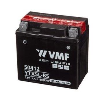 VMF VMF Powersport Accu MF YTX5L-BS 12V 4Ah
