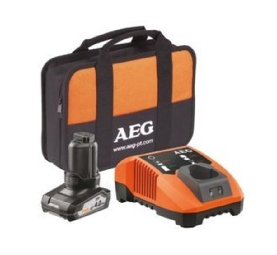 AEG Gereedschap Accu Set 12V/4.0Ah + BLK1218 + Transporttas