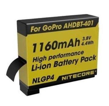 Nitecore Nitecore Digitale Camera Batterij 1160 mAh voor GoPro Hero 4