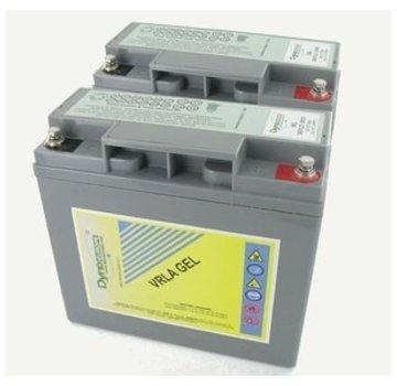 Dyno Europe Gel Accu 12V 18Ah Vervangingsset (Excl. Kabels)