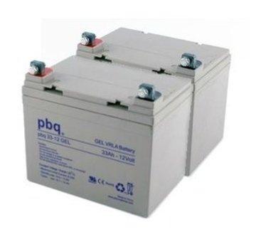 pbq Gel Accu 33Ah Vervangingsset (Excl. Kabels)