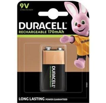 Duracell Duracell Oplaadbare 6HR61 NiMH 9V Blok 170mAh 1 Stuk Blister